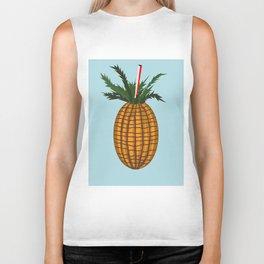 The uneven summer pineapple Biker Tank