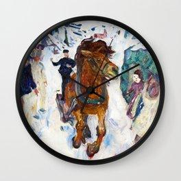 Galloping Horse by Edvard Munch Wall Clock