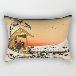 Snow at Koishikawa - Vintage Japanese Art Rectangular Pillow