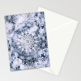 MANDALA WONDERLAND IN BLUE Stationery Cards