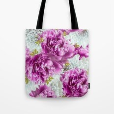 Summer bouquet of purple and white flowers - #Society6 #buyart Tote Bag