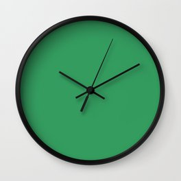 KELLY GREEN solid color  Wall Clock