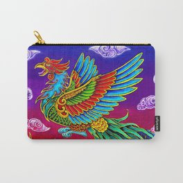 Colorful Fenghuang Chinese Phoenix Rainbow Bird Carry-All Pouch
