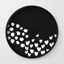 KisseS and HeartS Wall Clock