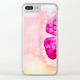 Pink Watercolor Butterfly Clear iPhone Case