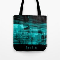 berlin Tote Bags featuring Berlin by Laake-Photos