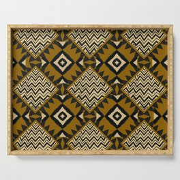Checkered Tribal Serving Tray