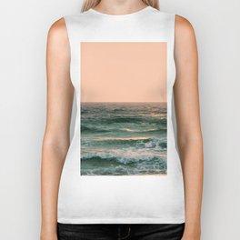 Pink Skies Ocean Vibes Biker Tank
