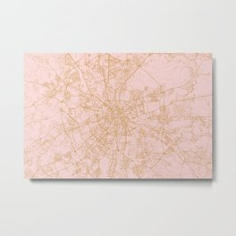 Moscow map Metal Print