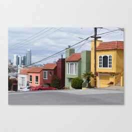 Houses of color in San Fransisco Canvas Print