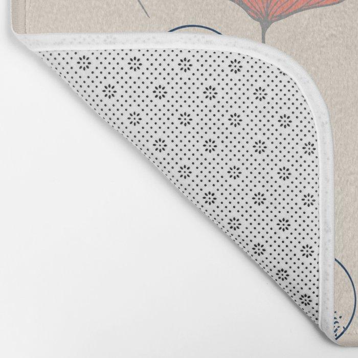 Delicate Ginkgo&Dots #society6 #decor #buyart Bath Mat