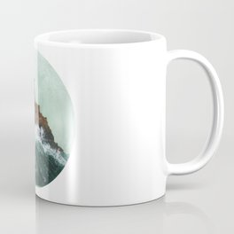Crashing Waves on a cliff Coffee Mug