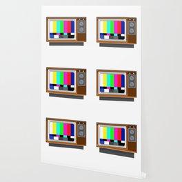 Retro Television Set TV Test Card Signal Pattern Wallpaper