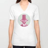 yoda V-neck T-shirts featuring Yoda by NJ-Illustrations