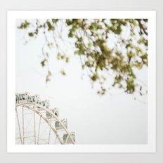 the wheel Art Print