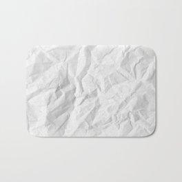 WRINKLED WHITE PAPER SHEET Bath Mat