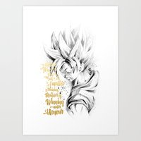 dragonball z Art Prints featuring Dragonball Z - Honor by Straife01