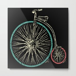 Cycling Forever | Penny Farthing High Wheel Metal Print