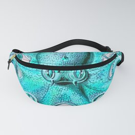 Octopus in Turquoise Fanny Pack