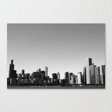 chicago skyline b+w Canvas Print