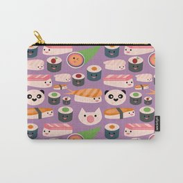 Kawaii sushi purple Carry-All Pouch