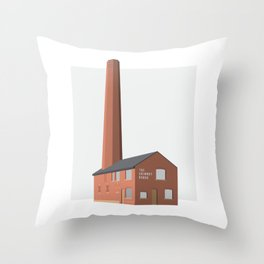 The Chimney House Throw Pillow