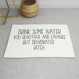 Drink Some Water, Kitchen Decor, Stay Hydrated, Kitchen Wall Art Rug