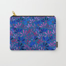 All Over Ditsy-Floral in Blue Carry-All Pouch