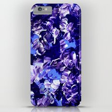 FLORAL FANTASY 2 Bold  Blue Lavender Purple Abstract Flowers Acrylic Textural Painting Garden Art Slim Case iPhone 6 Plus