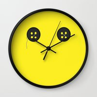 coraline Wall Clocks featuring Coraline by Lalaine Lim