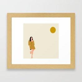 Beautiful day. Minimalist illustration Framed Art Print