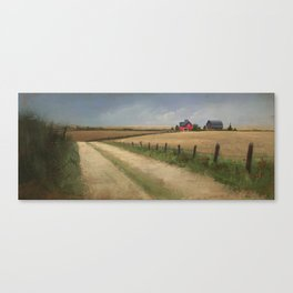House in Field Canvas Print
