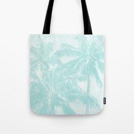 Palm Trees Cyan Kihei Maui Hawaii Tote Bag