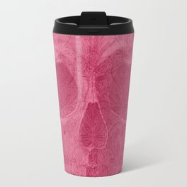 Pink Skull and Retro Pattern Travel Mug
