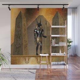 Anubis the egyptian god Wall Mural