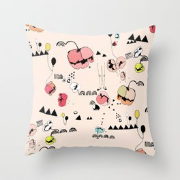 Poppies Print Throw Pillow