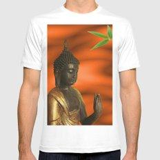 Buddha Mens Fitted Tee White MEDIUM