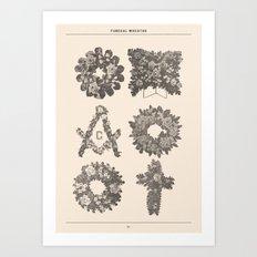 Funeral Wreaths Art Print