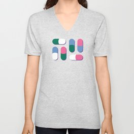 Colorful pills Unisex V-Neck