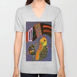 Wassily Kandinsky Tempered Elan Unisex V-Neck