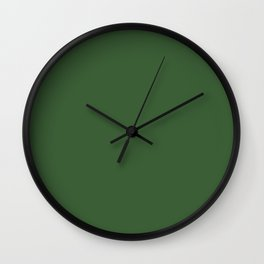 Kiss of Spring ~ Green Coordinating Solid Wall Clock