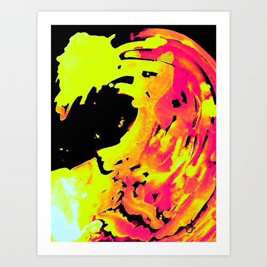Solar Flare Wave Art Print