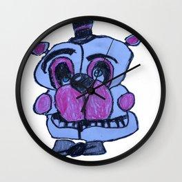 Funtime Freddy in crayon - FNAF Wall Clock