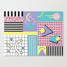 Memphis Pattern 27 - 80s - 90s Retro / 1st year anniversary design Canvas Print