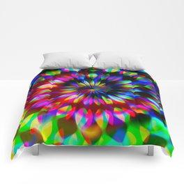 Psychedelic Rainbow Swirl Comforters