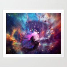 Unicorns belong in space Art Print