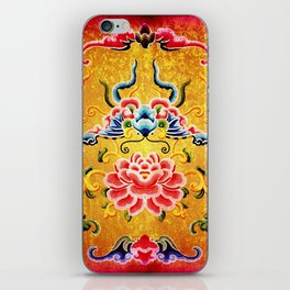 Golden Chinese Ornament iPhone Skin