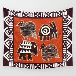 African Animal Folk Art Wall Tapestry
