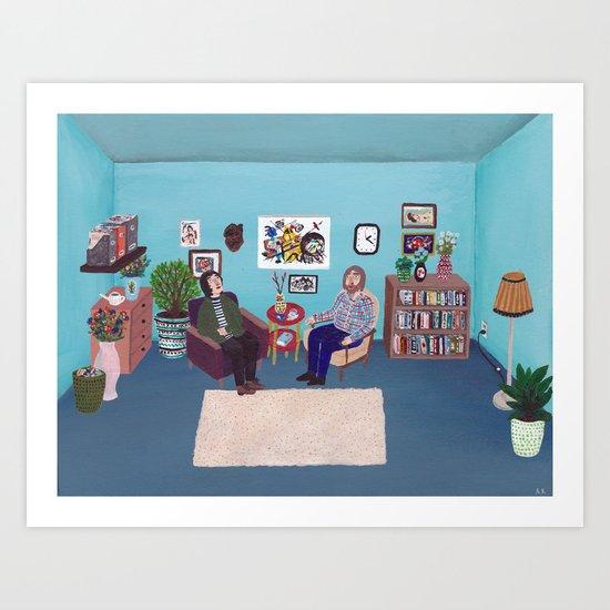 the Psychiatrists Room Art Print
