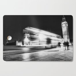 Bus passing Westminster B&W Cutting Board